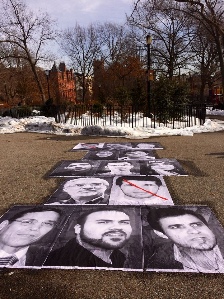 American Pastor Saeed Abedini Profiled in Innovative Art Project in Front of UN Saeed-ny-2