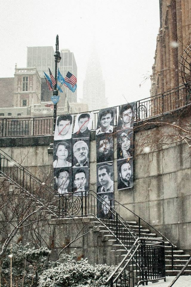 American Pastor Saeed Abedini Profiled in Innovative Art Project in Front of UN Saeed-ny